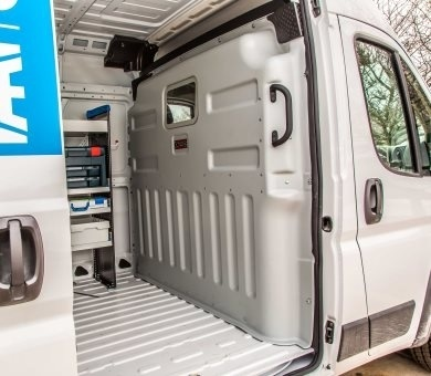 Protexx van partitions are durable yet lightweight, constructed of an