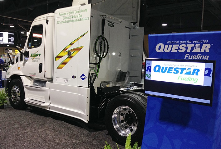 Swift Transportation continues testing CNG trucks, currently operating
