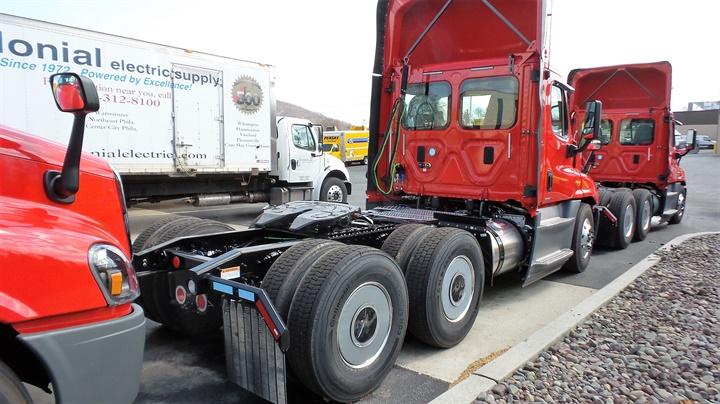 System Freight Inc.'s fuel-efficient Cascadia Evolution tractors