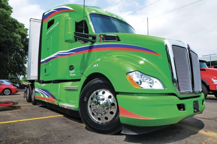 Kenworth pushed the T680 into new aero territory with an add-on