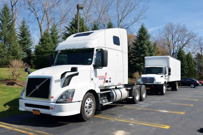 Our test truck was a rented 2013 Volvo VNL. Vnomic's development