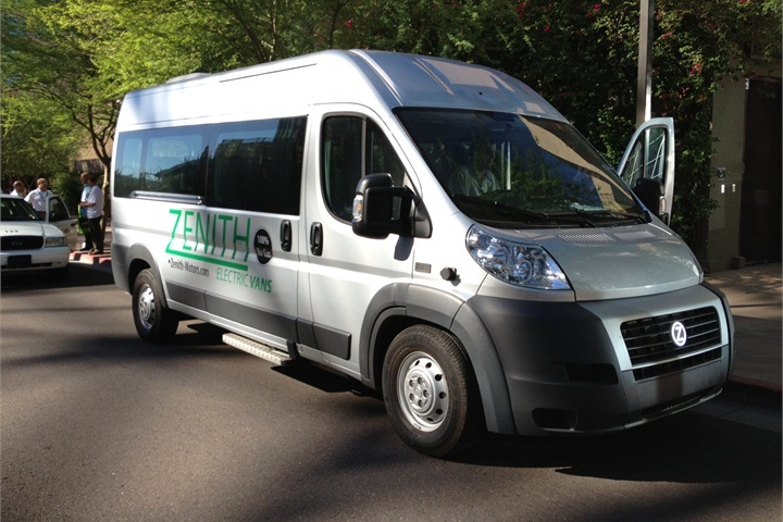 The Zenith Electric Shuttle Van (pictured at last year s event) will