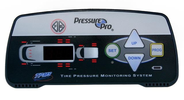 PressurePro's in-cab TPMS display.