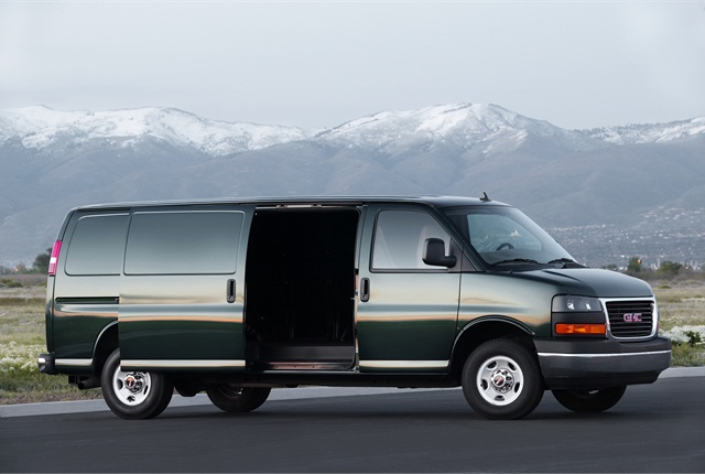 General Motors: The G-series, sold as the Chevrolet Express and GMC Savana, remains GM's main product in the cargo vans segment. Its body-on-frame design includes traditional powertrains, including a gasoline Vortec V-6 and three Vortec V-8s (4.8-, 5.3- and 6-liter, with CNG and propane conversions available for some), plus the 6.6-liter Duramax V-8 diesel, mated to 4- and 6-speed Hydra-matic transmissions.