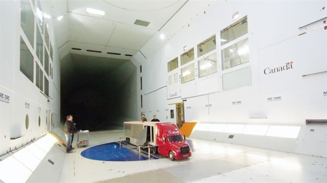 The National Research Council of Canada studied 30% scale models in its 29-foot wind tunnel. Photo: National Research Council of Canada