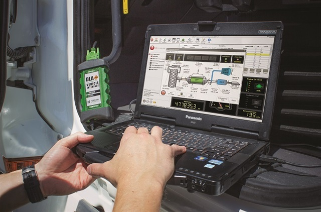 Monitoring system condition and tracking fault codes can help fleets avoid big problems with their aftertreatment systems. Photo: Noregon