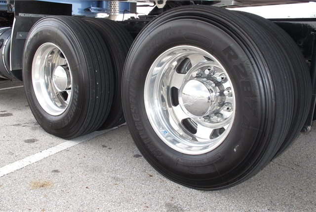 Premium all-position tires offer reduced rolling resistance through ribbed tread patterns and shallow grooves.