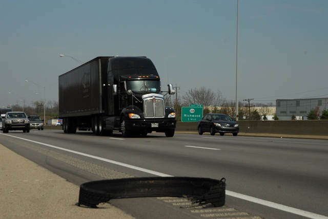 Will an increasing number of cheap imported tires cause a rise in the amount of roadside tire debris? Photo by Jim Park.