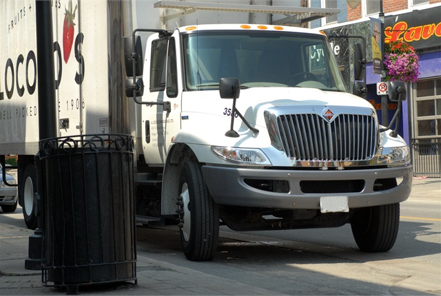 Downtown streets still pose a threat to delivery fleets' tires. Nobody will give up protection for fuel economy; the tire people say they won't have to.