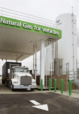 Partnerships with natural gas fuel providers and sharing facilities with other fleets can defray investments in on-site fueling. Photo: NGV America
