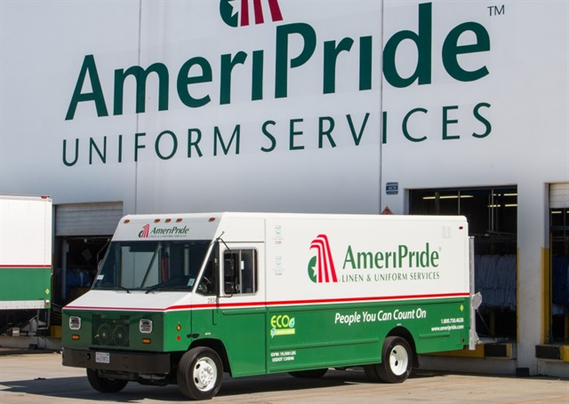 AmeriPride is going electric on its Ford F59-chassis delivery trucks, with systems from MotivPower and XL Hybrids.
