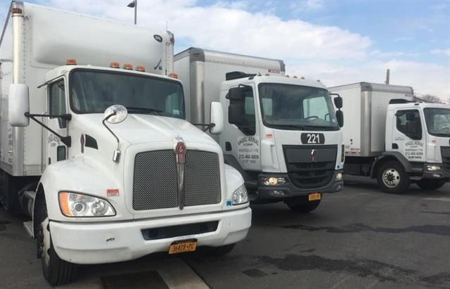 Angel Aerial's fleet includes Kenworth box trucks. Photo by James Miller