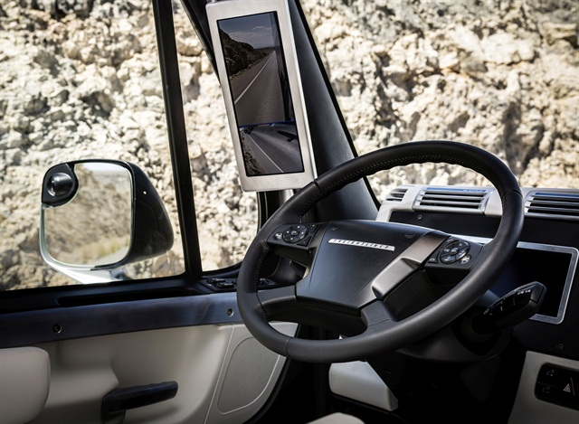 Regulations can inspire, or they can be a roadblock in the case of requirements for side view mirrors. Photo: Daimler Trucks