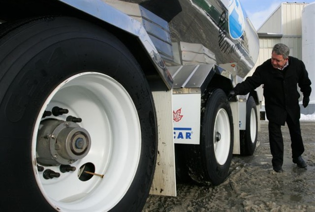 Your tires will tell the tale if they're improperly balanced. Signs include chunking and scalloping created as the tire vibrates or hops while rolling down the road. Photo:  Rush Truck Centers