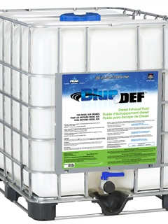 Totes like this one offer about a 27% savings on DEF over the pump price. Bulk options can mean even more savings.
