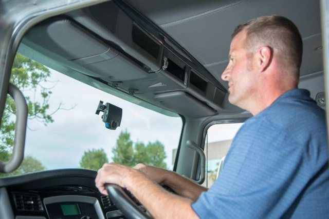 Fleets can see real improvement with in-cab video systems. Photo courtesy of Lytx