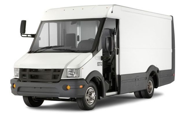 Reach walk-in van has an impact-resistant Utilimaster composite body on an Isuzu diesel-powered chassis.