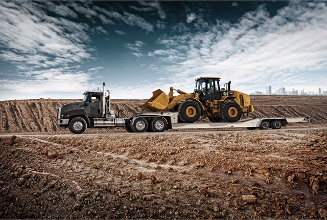 Caterpillar:In line with its earth-moving business, Caterpillar aims its CT (for Cat Truck) 660 with its setback steer axle at vocational duties. Tractors like the CT660 are used by many Cat dealers to deliver machinery, but customers are buying them and straight-truck versions to haul materials and supplies, as well. The CT680 with a forward-set front axle will join the series early next year.