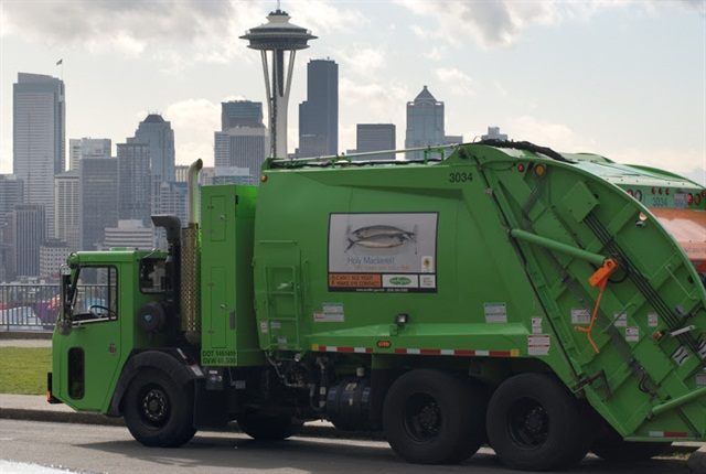 CNG truck operated by CleanScapes in Seattle.