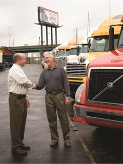 Arrow says the driver shortage has boosted fortunes of owner-operators and increased its sales of used trucks to them. Small and medium-size fleets comprise its other major customer group. Arrow is wholly owned by Volvo Trucks, but operates independently and handles all makes and models.