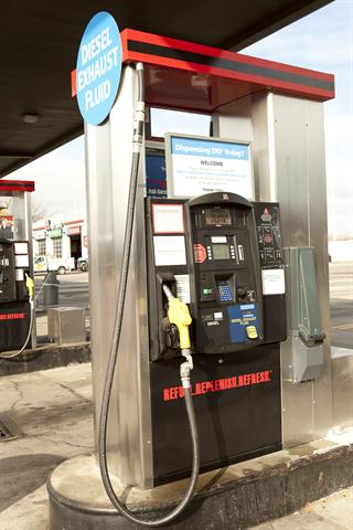 "TravelCenters of America's DEF dispensers, which it calls the ""DEF+1,"" pump both diesel fuel and DEF and are available at nearly all locations. Drivers can authorize diesel and DEF transactions at the same time at the same dispenser, pump both products in any order, and pay for both fills at the same time."