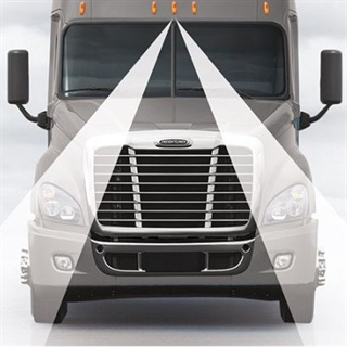 Detroit Assurance includes an optional Lane Departure Warning system consisting of a forward-looking camera that detects roadway lane markings. Drivers get audible alerts if they cross out of a lane without using the turn signal.