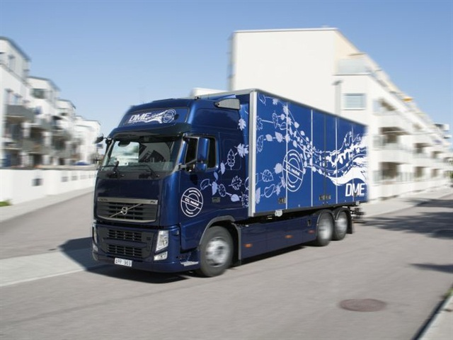 DME was one of a number of alternative fuels tested in Europe by Volvo in real-world service with hauling firms. Photo: Volvo