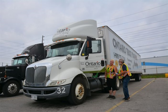 New backing tests align more with daycabs than highway tractors, says Yvette Lagrois, of Ontario Truck Training Academy.