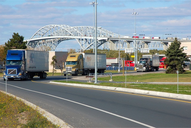 Canada's e-Manifest program and the U.S. ACE program mean trucks can drive through the border almost without stopping.