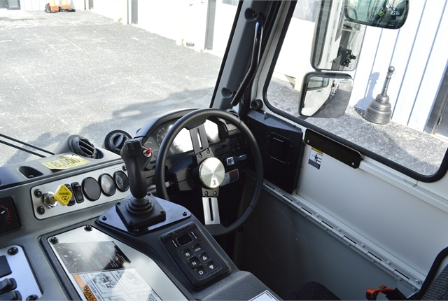 The LR can be driven from both the left and right cab positions. Vehicle speed is limited to 20 mph in the right-hand seat, however. Photo: Jack Roberts