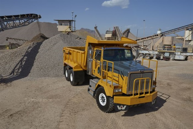 Telematics can do far more than just alert fleet managers that a truck needs maintenance. Dump fleets are using connected trucks to ensure timely deliveries of perishable payloads and measure fleet efficiencies on a daily basis. Photo: Western Star