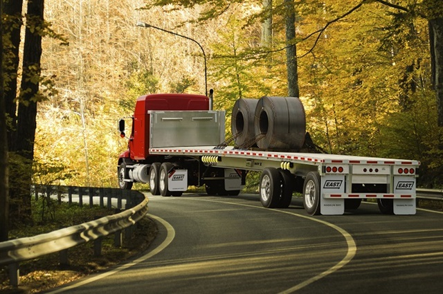 While the flatbed market looks strong early in 2018, recent moves by the Trump administration could drive prices up and affect supply later in the year. Photo: East Manufacturing