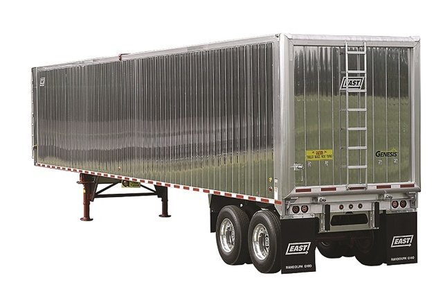 Enviro Recyclers Inc. uses East Genesis smooth-sided aluminum refuse trailers like this one to haul trash and recycling. Photo: East Manufacturing
