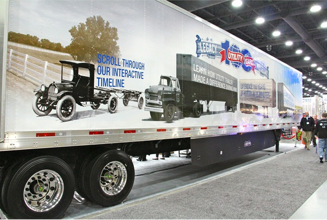 Utility debuted a special museum trailer at the Mid-America Trucking Show last month. Photo: Evan Lockridge