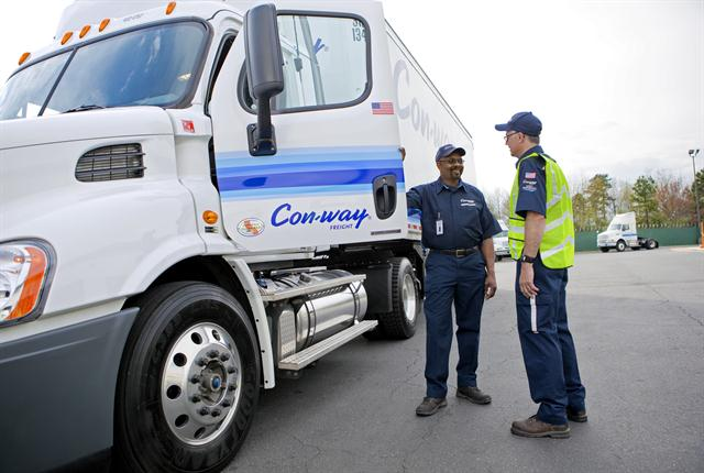 Con-way Freight works to stress safety to its employees in a variety of ways.