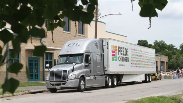 Based in Oklahoma City, FTC Transportation is a small dedicated carrier for the Feed the Children Program, delivering food and relief to those in need. Photo: FTC Transportation