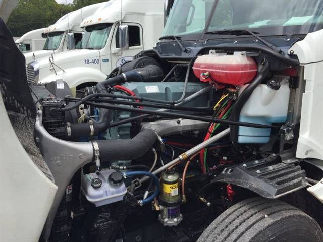 Glider kits, like this brand-new Freightliner kit with a pre-emissions Detroit Diesel engine, are being severely curtailed under the rules as they currently stand. Photo: Deborah Lockridge
