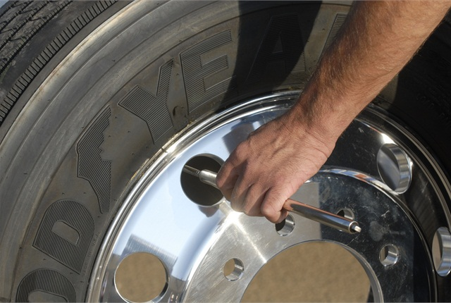 Buying fuel-efficient tires? Better make sure they're at the optimum inflation. (File photo: Goodyear)