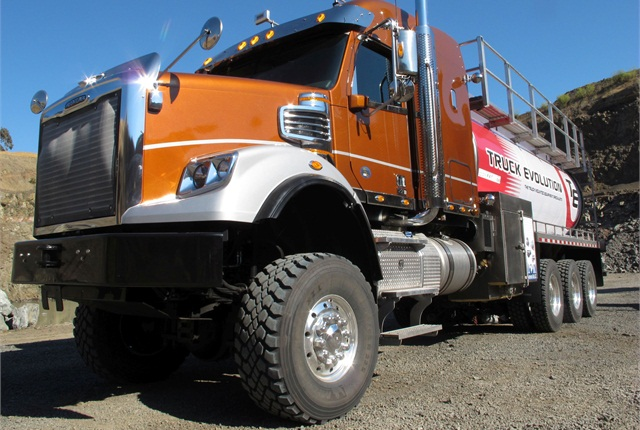 This 92,000-lb GVW oil tanker looked a little out of place in Napa, Calif., where we test drove it last summer.