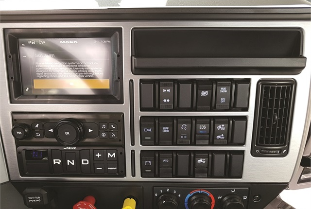 The dash panel is decked out with big, firm and very tactile rocker switches, a 7-inch touchscreen display (optional) and new home for the mDrive shifter pad. It's available in three trim levels, Standard, with gunmetal trim, Premium (shown) with aluminum trim, and Ultra with woodgrain trim.