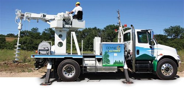 Many of Odyne's hybrid systems go into utility service trucks, where they work cleanly and  silently on job sites. Public utilities, municipalities and other high-profile fleets are still interested in cutting emissions and fuel use, the manufacturer says. Photo: Odyne Systems