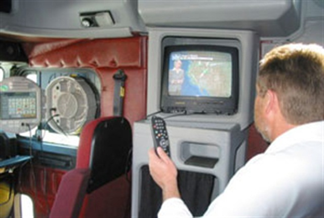 IdleAir being used in the cab.