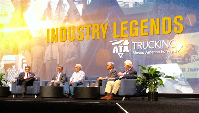 "A panel discussion of four ""Industry Legends"" at ATA MC&E. Photo: Evan Lockridge"