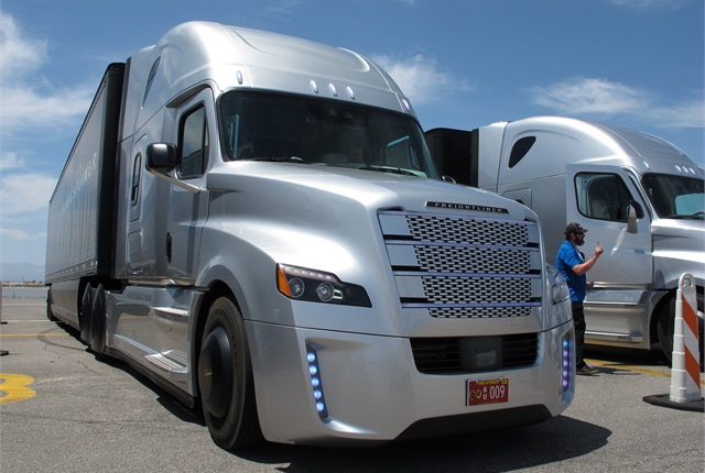 Inspiration Truck ready for test rides at the Las Vegas Motor Speedway. Photo: Jim Park