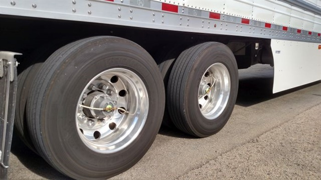 The Meritor Tire Pressure Inflation System by P.S.I. is standard at Werner Enterprises and other fleets. It's especially helpful in drop-and-hook operations where tires on parked trailers can run down. Photo: Tom Berg