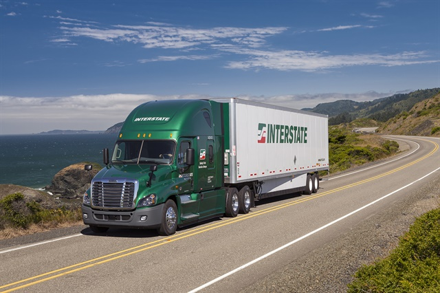 LNG and APUs help Interstate Distributor reduce diesel use, and all trailers are getting skirts and automatic tire-inflation systems.