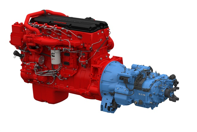 The Cummins ISX 15 SmartAdvantage powertrain.