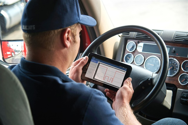 "Despite how easy it is to install electronic logging devices and having the ability to use an app to log time, ""it still takes fleet management and drivers generally a couple of months to get comfortable with the technology,"" advises Tom Reader of ELD supplier J.J. Keller. Photos: J.J. Keller"