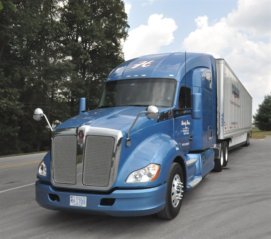 Kenworth:The new T680 with a large cab and many other advances is Kenworth's flagship highway tractor. Like all T models, it has a setback steer axle. Narrow-cab T660 and wide-cab T700 (the latter-day T2000), remain in the lineup, as does the traditional W900 with its forward-set steer axle. The T880 truck, which shares the new large cab with the T680, is being heavily advertised as the vocational segment revives.
