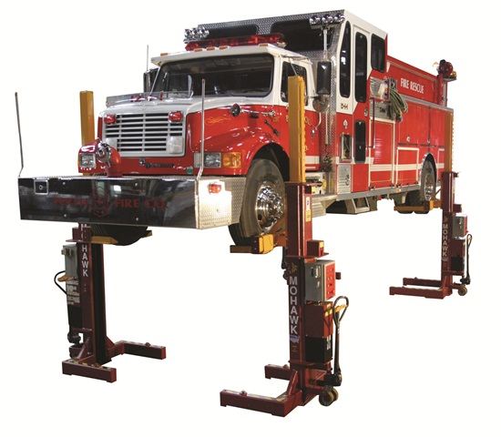 Because some lifts require modification to the building, if you are leasing your shop, a mobile column lift like this one from Mohawk may be a good option.